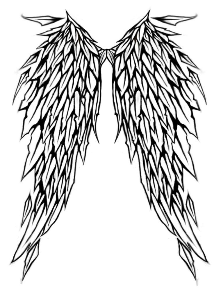 736x1029 50 Best Angel Wings Tattoo Designs Images Tasteful