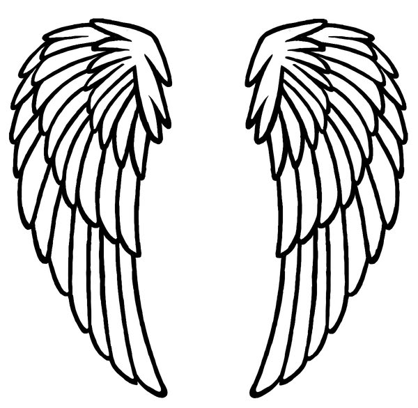 image about Angel Wing Stencil Printable named Angel Wing Graphic Cost-free obtain great Angel Wing Graphic upon