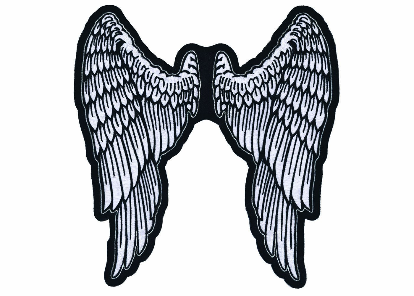 1400x1000 Lethal Threat Angel Wings Embroidered Patch (11 X
