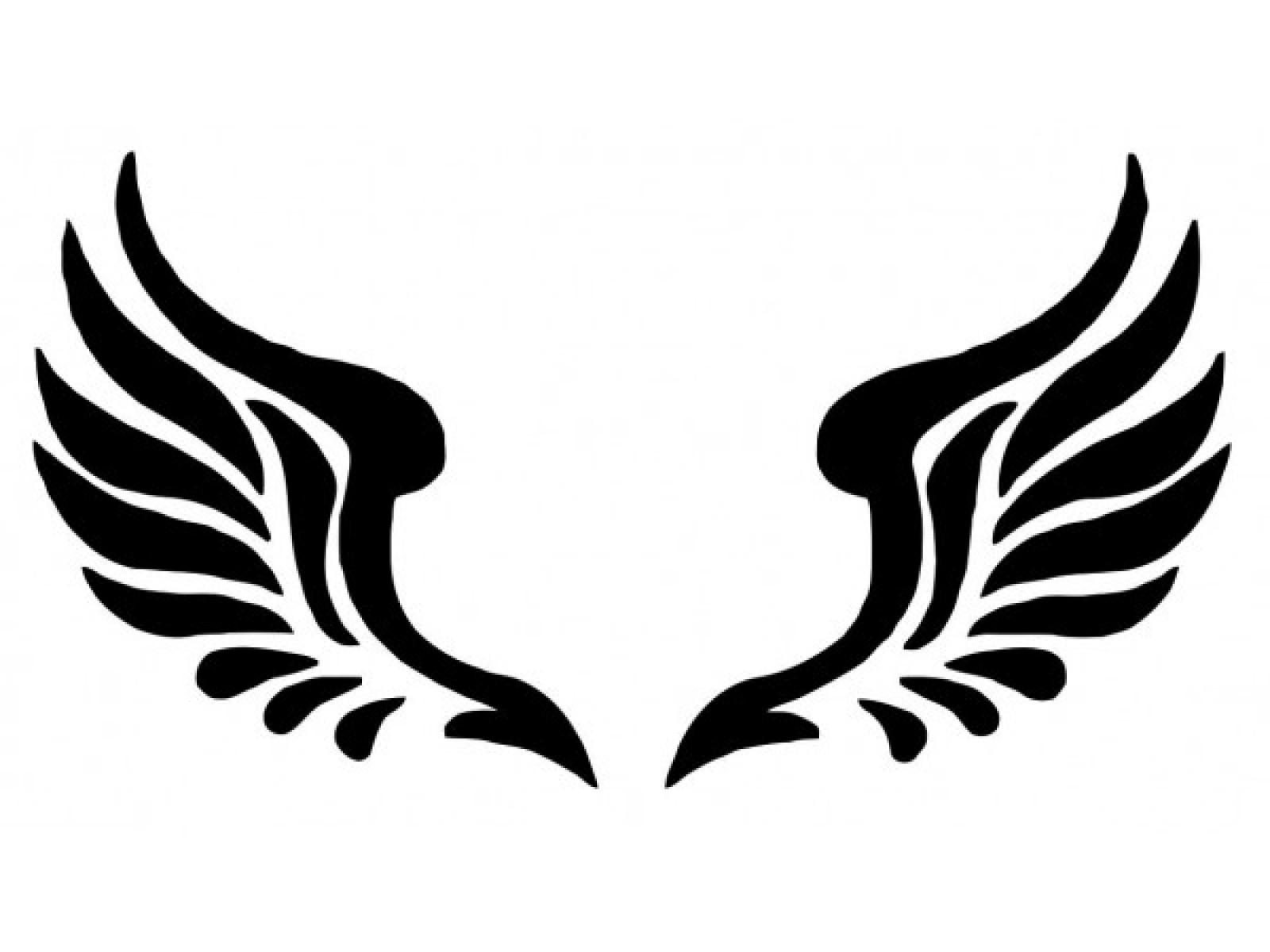 1600x1200 Drawn Wings Stencil