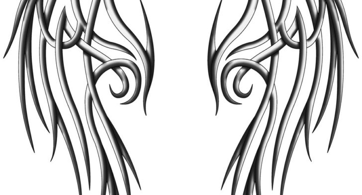 728x393 Tribal Angel Wing Tattoos Ideas About Tribal Wings