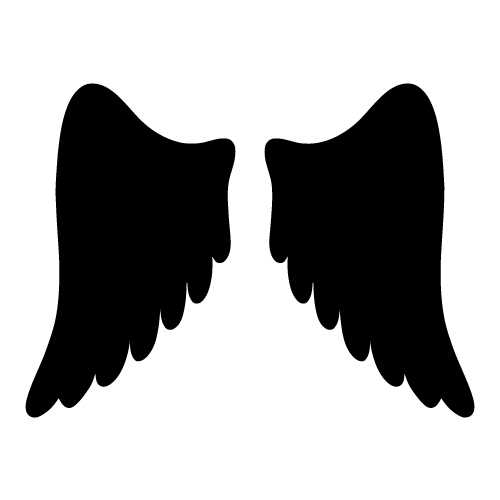 500x500 Angel Wings Angel Wing Templates Clipart Clipart Kid
