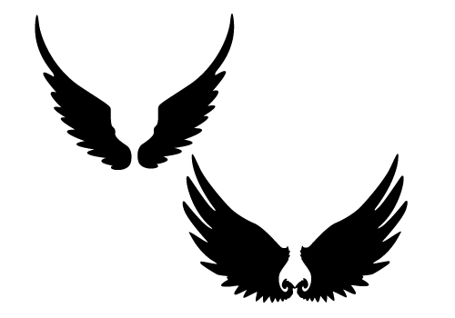 500x350 Wings Silhouette Clipart