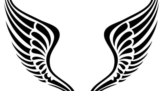 570x320 Simple Angel Wings Drawing Easy To Draw Angel Tattoos Simple Angel