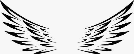 528x215 Angel Wings Painted Vector, Hand Painted, Wing, Angel Wings Png