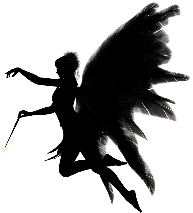 654x720 Free Photo Gold 3d Angel Black Fly Wing Png Isolated