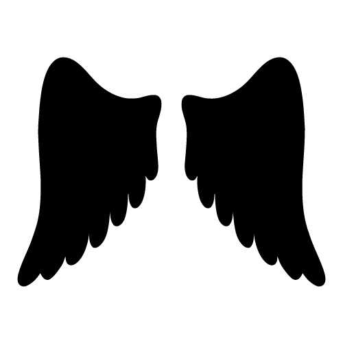 500x500 Good Graphics On Angel Wings Wings And Halo Clipart Image