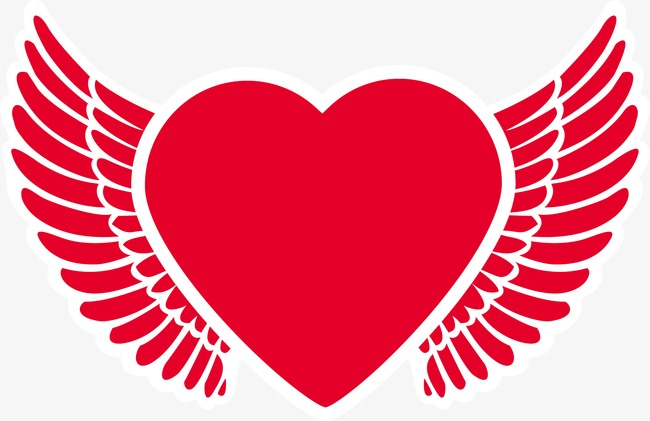 650x421 Heart Angel Wings, Heart, Angel, Wing Png And Vector For Free Download