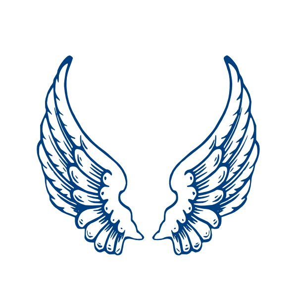 600x600 Large Wings Clipart