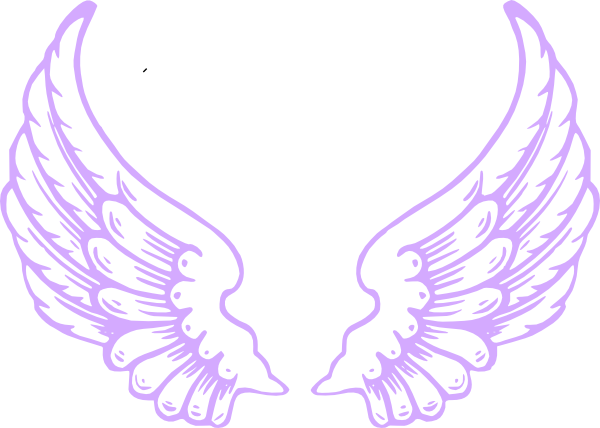 600x428 Purple Angel Wings Clip Art