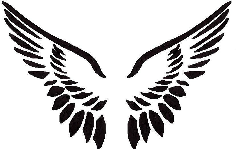 829x525 Wings Clipart Stencil