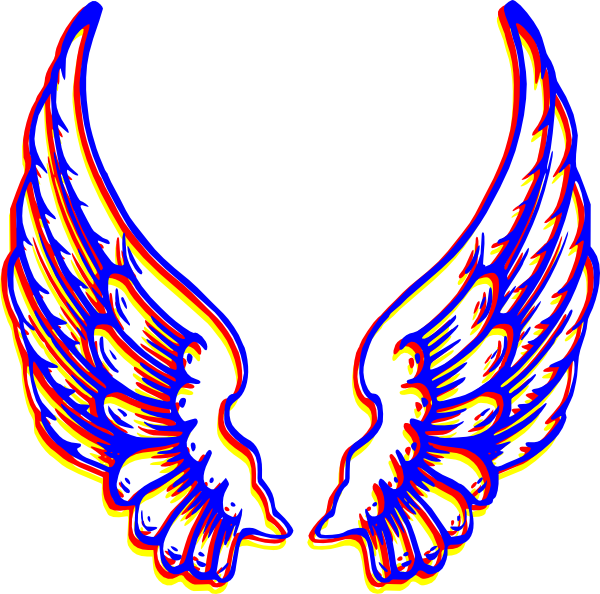 600x594 Angel Wings Clipart