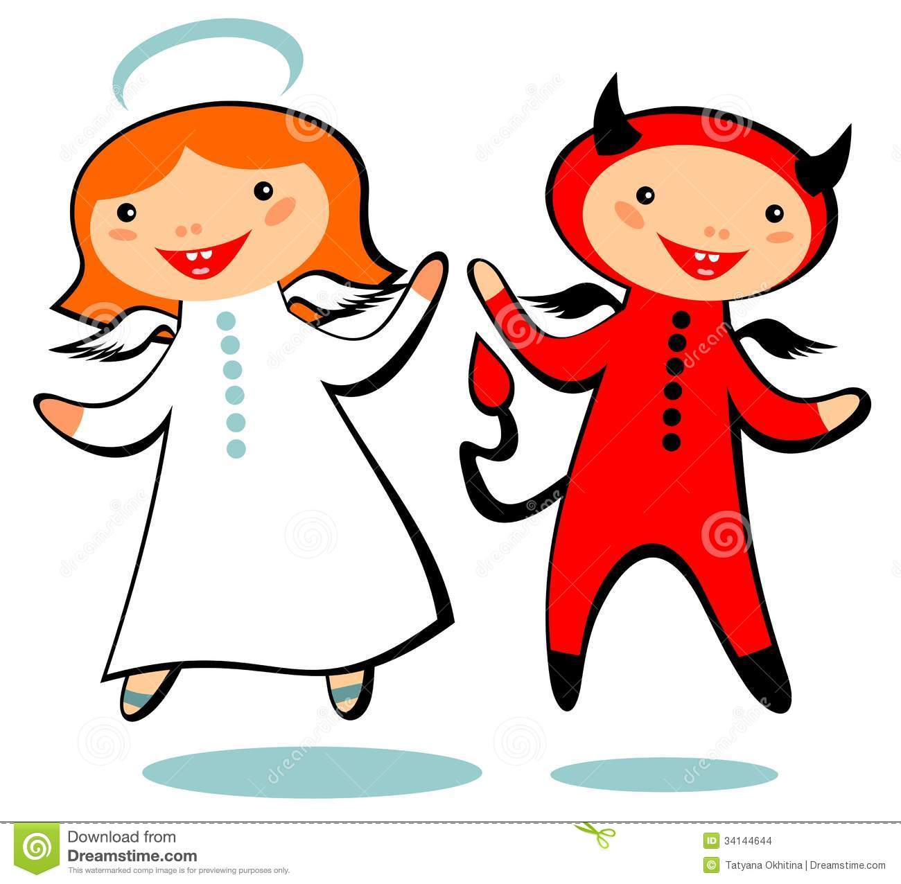 1300x1276 Angel vs devil clipart