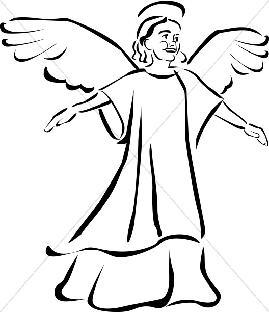 528x612 Herald Angel Clipart (53+)