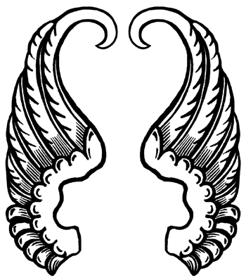 printable angel wings coloring pages - photo#36