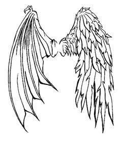 236x279 Half Demon Half Angel Wings Tattoo 1000 Ideas About Angel Demon
