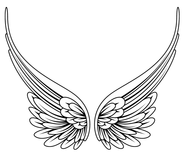 600x497 Image Of Angel Wing Clipart 1 Free Clipart Angel Wings