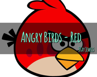 340x270 80% Off Angry Birds Digital Clipart Cute Birds Red Bird