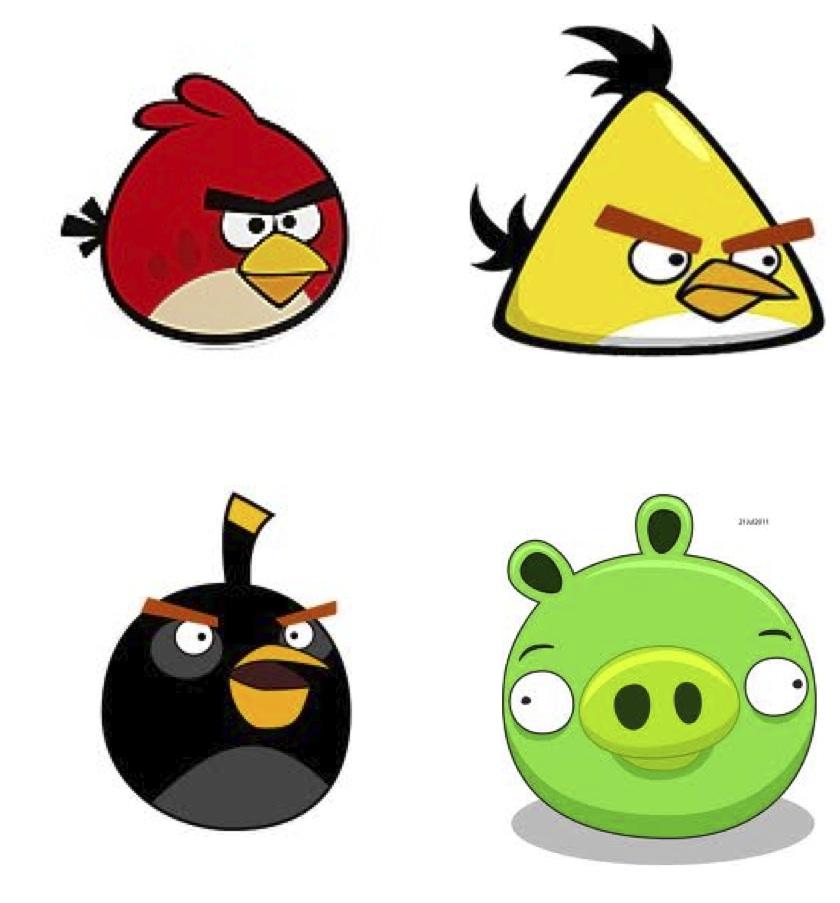 840x903 Angry Birds Christmas Clip Art