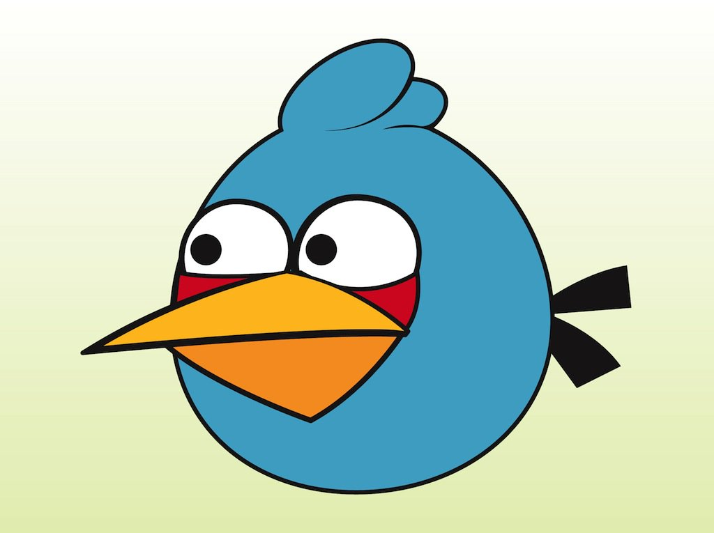 1024x765 Blue Angry Bird Vector Art Amp Graphics