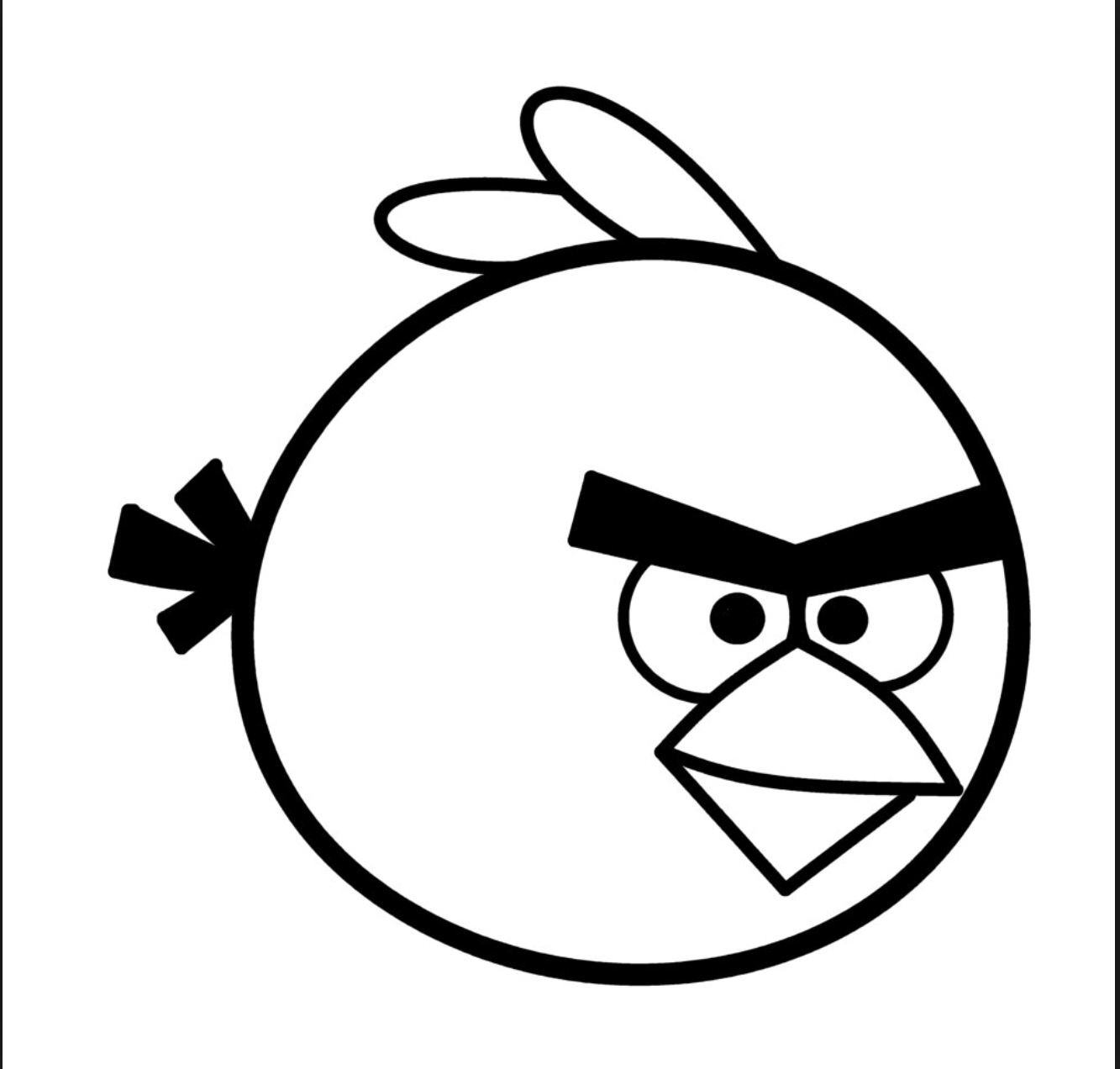 1333x1272 15 Angry Birds Black White Pictures Selection Black