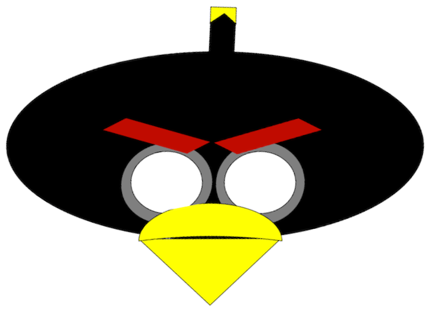 855x617 Mask Clipart Angry Bird