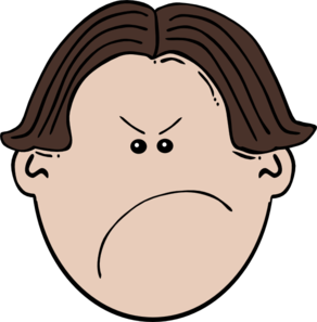 292x297 Angry Brown Boy Clip Art