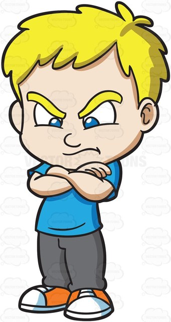 341x640 A Mad And Angry Boy Cartoon Clipart