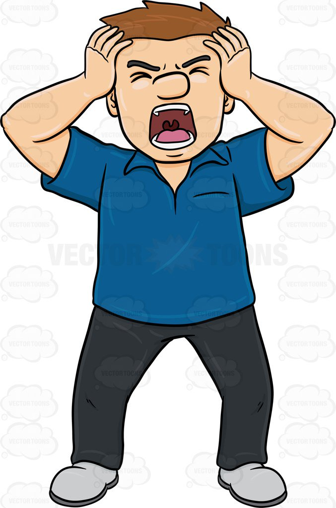 677x1024 Boy Clipart Frustrated