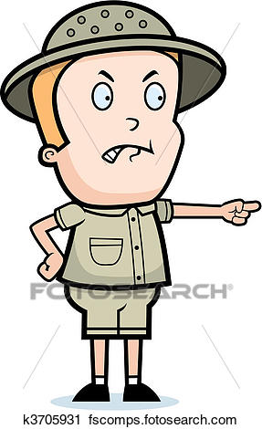 287x470 Clipart Of Angry Explorer K3705931