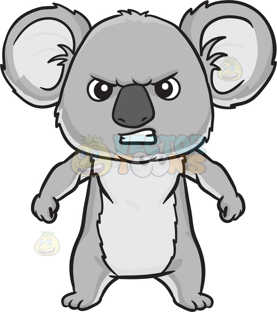 Angry Cartoon Bear Clipart