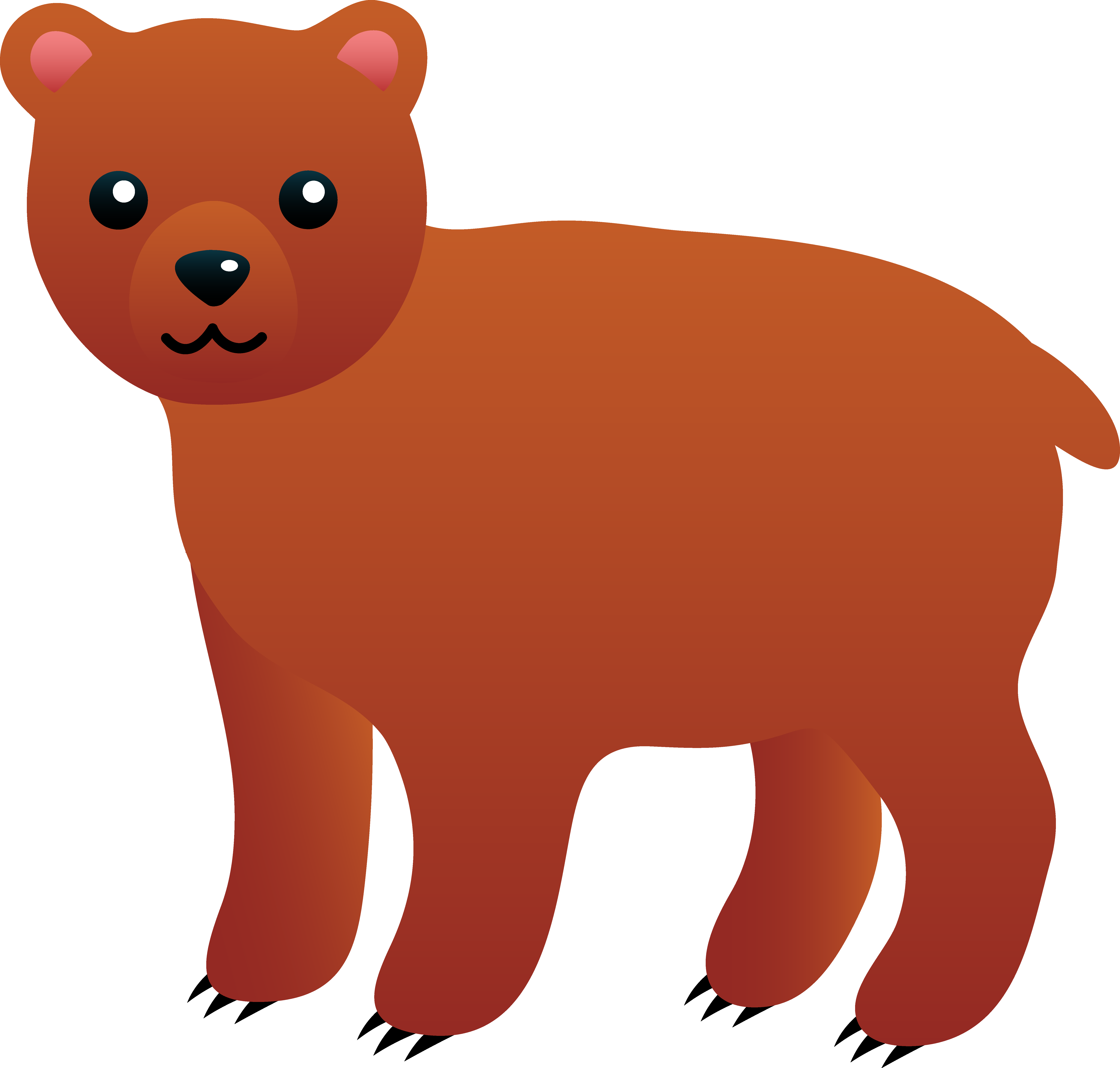 6342x6048 Cartoon Bear Clipart