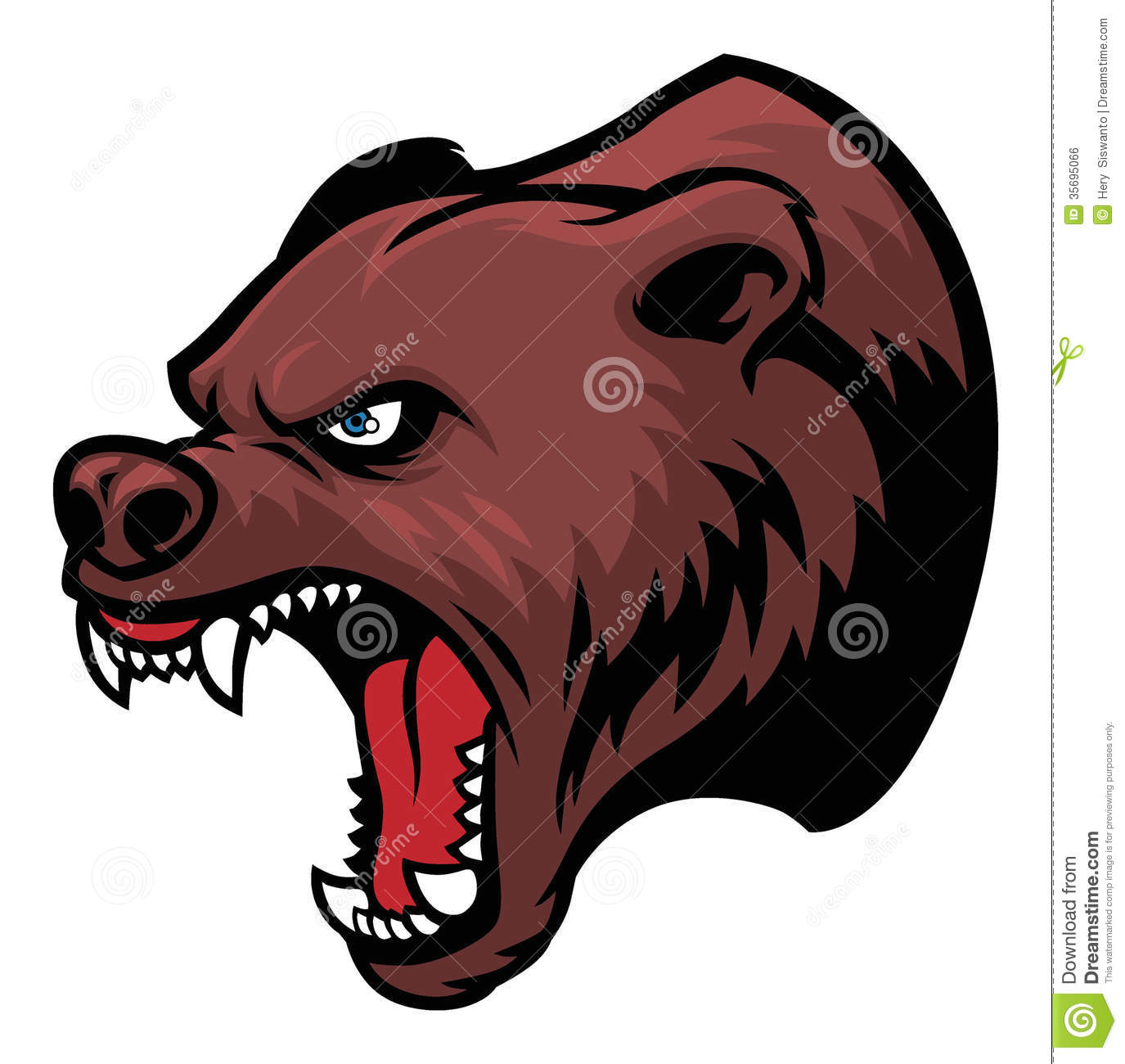 1375x1300 Grizzly Bear Clipart Angry