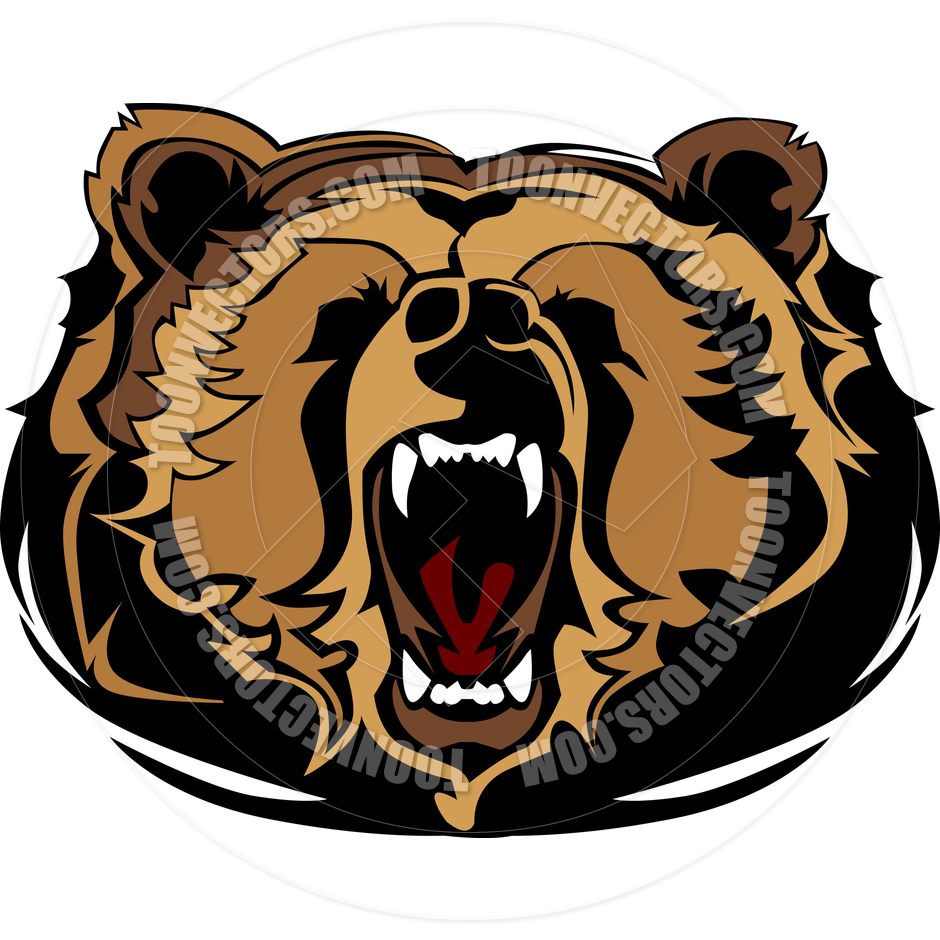 940x940 Grizzly Bear Clipart Cartoon