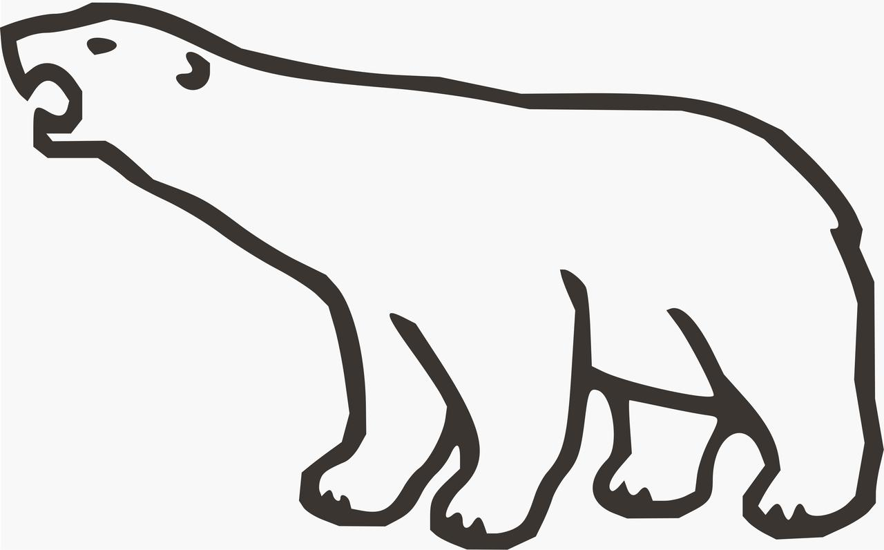 1280x796 Grizzly Bear Clipart Polar Bear