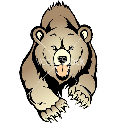 380x400 Grizzly Clipart Angry Bear