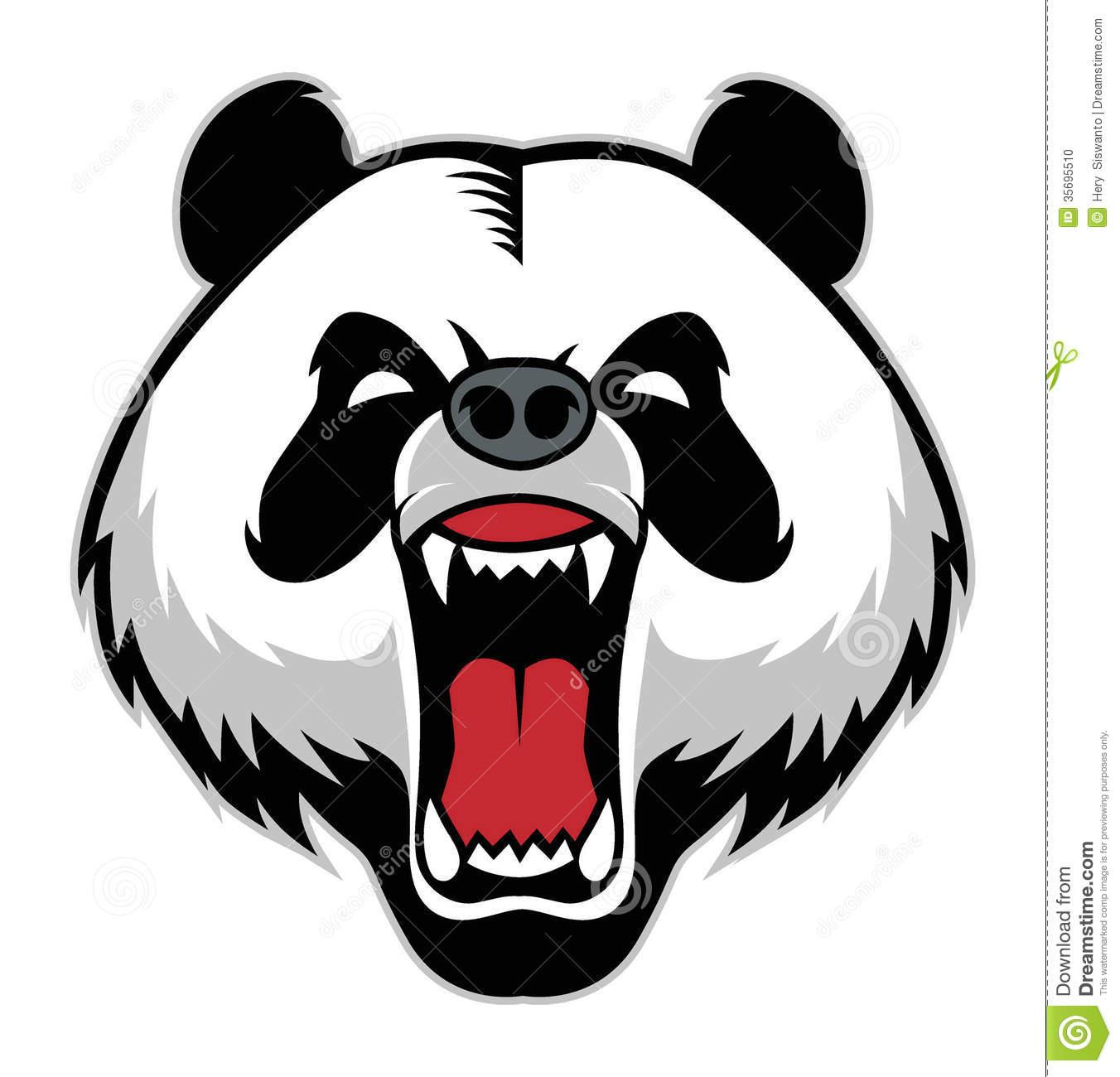 1352x1300 Panda Clipart Angry