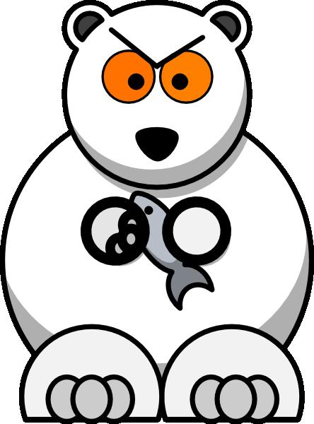 444x600 Polar Bear Clip Art