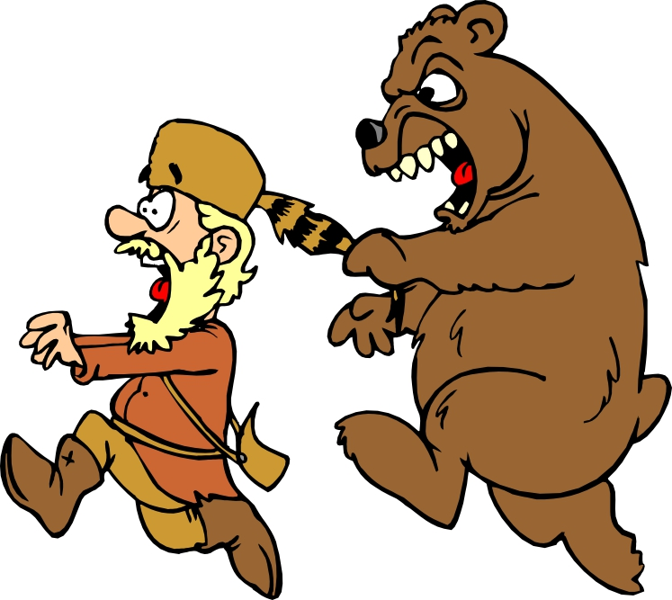 747x667 Scary Clipart Bear
