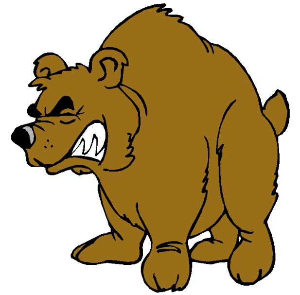 617x607 Best Angry Bear Clipart