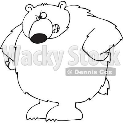 400x400 Black Bear Clipart Angry