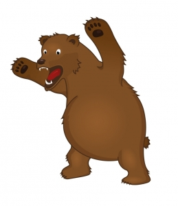 Bear angry. Cartoon clipart free download