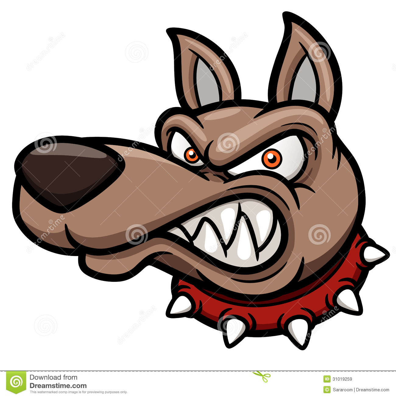 1300x1309 Angry Cartoon Dog Royalty Free Stock Images