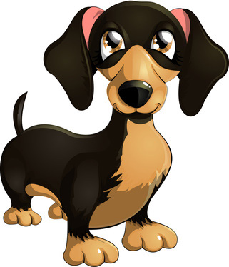 321x374 Clip Art Of Cartoon Dachshund Dog Dogs