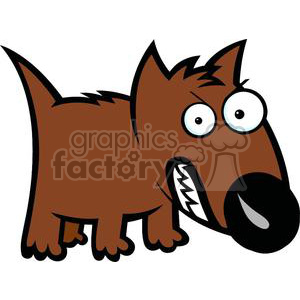 300x300 Royalty Free Angry Dog Cartoon 380009 Vector Clip Art Image