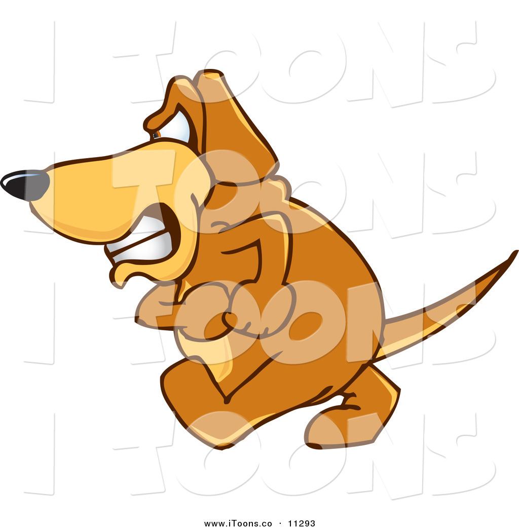 1024x1044 Vector Clip Art Of An Angry Brown Dog Mascot Cartoon Character