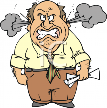 347x350 Angry Man Clipart