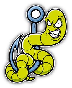 244x300 Angry Worm Cartoon Car Bumper Sticker Decal 4'' X 5'' Ebay