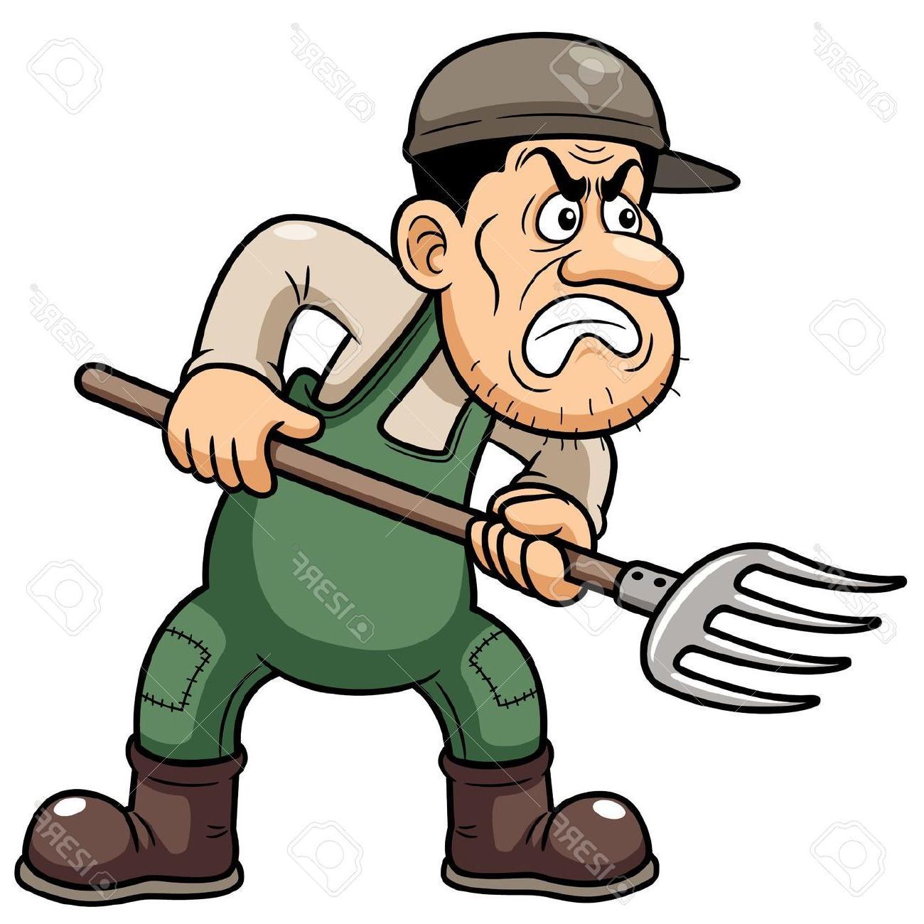 1300x1300 Best Angry Farmer Cartoon Character Vector Photos Free Vector
