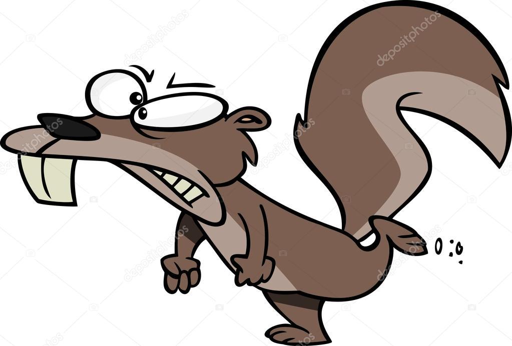 1023x692 Cartoon Angry Squirrel Stock Vector Ronleishman